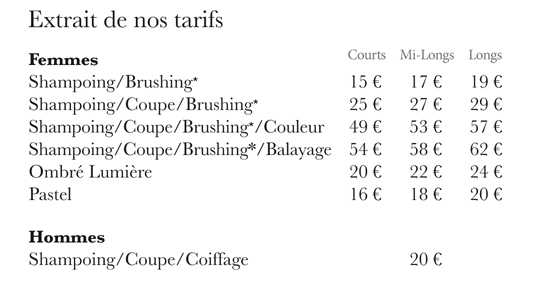 Salons | Access Coiffure
